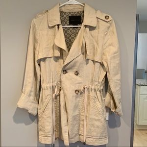 Anthropologie Sera Linen Trench